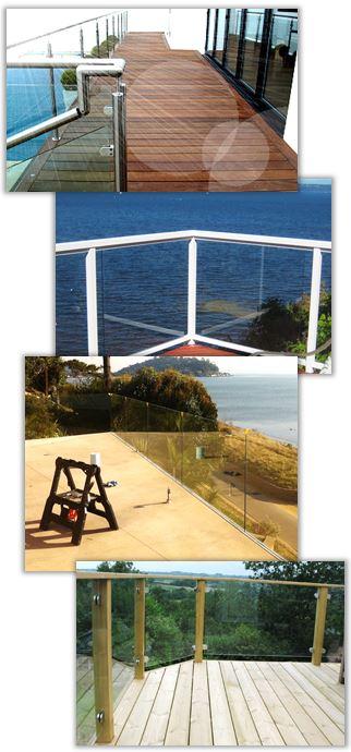 Glasräcken för balkong, veranda, uteplats